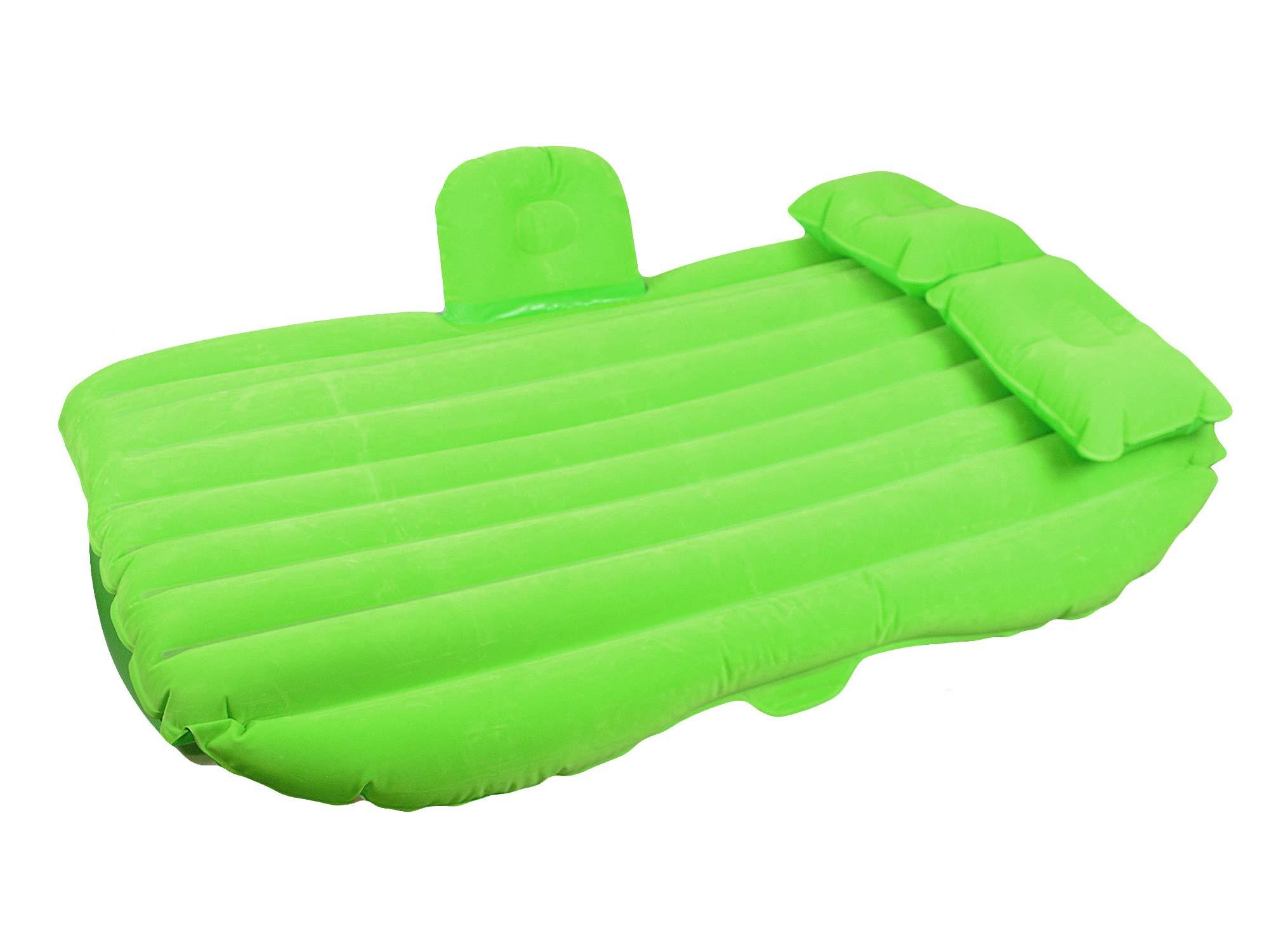 EGI Universal Heavy Duty SUV, Sedan, Truck Back Seat Extended Air Bed - Inflatable Travel Mattress (Green) by EGI
