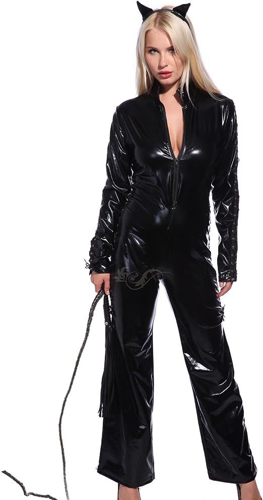 Maboobie - Disfraz de gata Catwoman para Mujer Body Vinilo Mono de ...