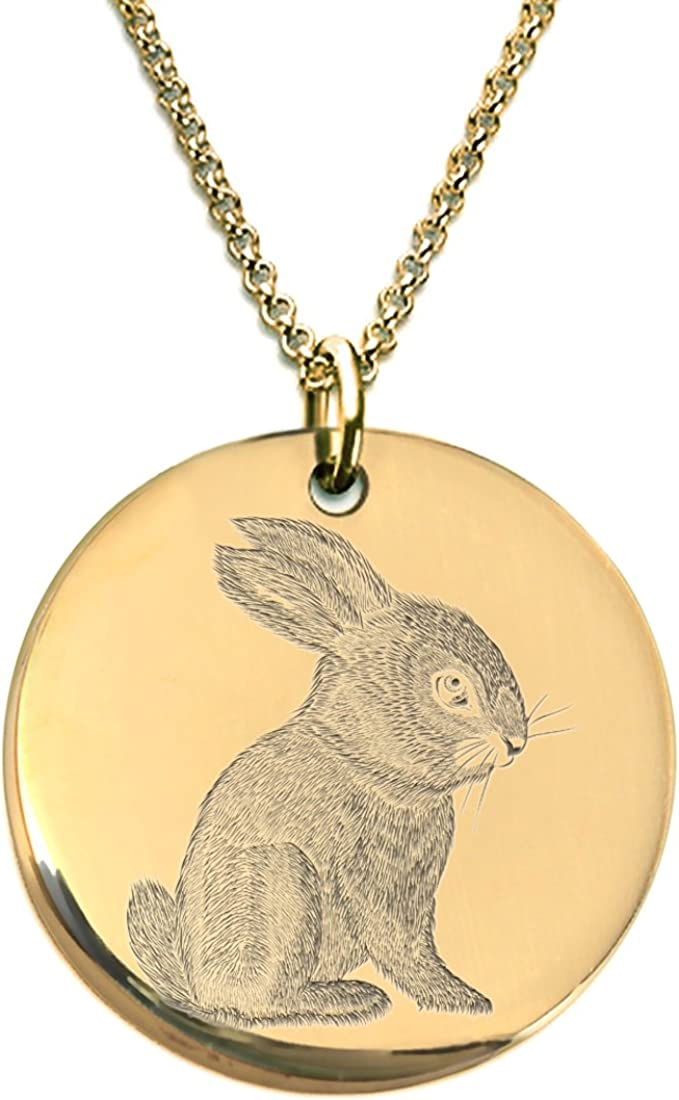 Sterling Silver Jewelry Hare Personalized Jewelry Rose Gold Jewelry Gold Jewelry Bunny Rabbit Head Necklace Engrave Pendant