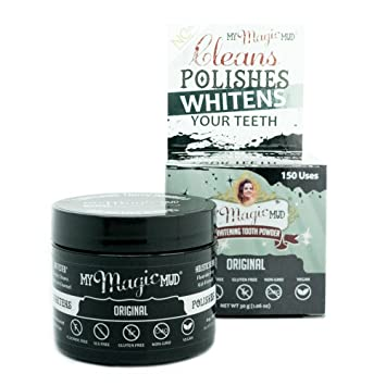 Magic Cleaning Erfahrung amazon com my magic mud activated charcoal tooth powder for