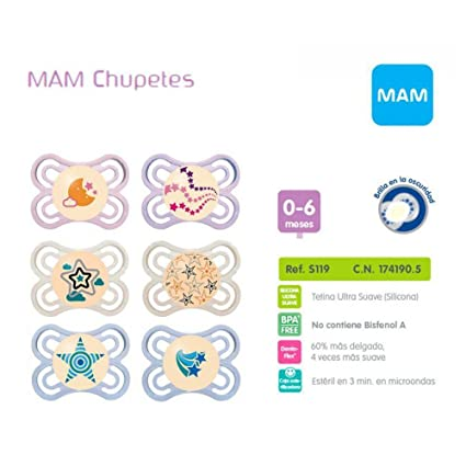 Mam 1703496031 - chupete perfect night silicona 0m+