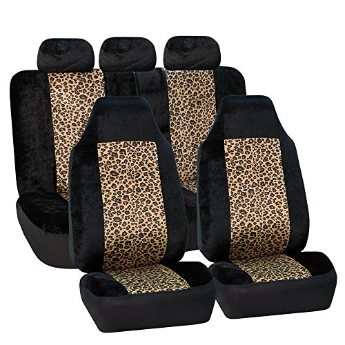FH GROUP FH-FB126115 2 Tone Leopard Car Seat Covers, Airbag compatible and Split Bench- Fit Most Car, Truck, Suv, or Van (30% OFF LIMITED TIME (1993 Jeep Grand Cherokee Limited)