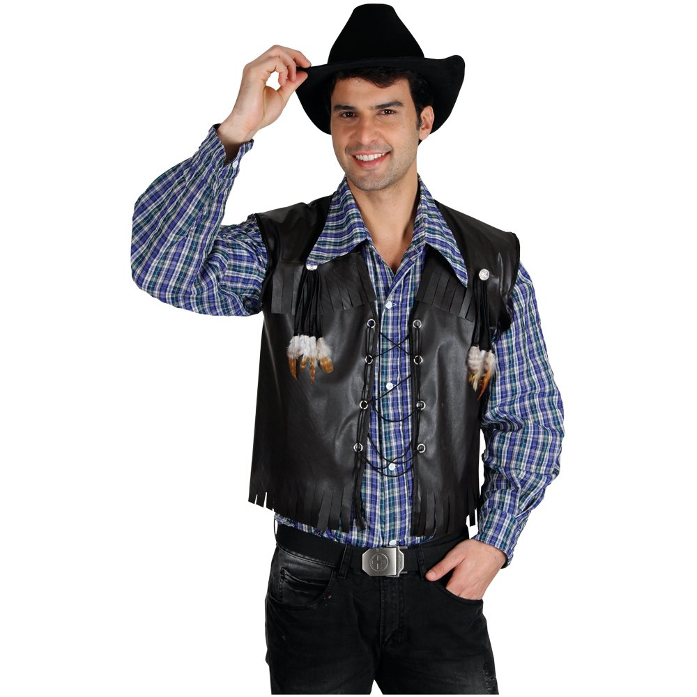 Deluxe Cowboy Waistcoat (One Size) Fancy Dress Adult Costume Amazon.co.uk Toys u0026 Games  sc 1 st  Amazon UK & Deluxe Cowboy Waistcoat (One Size) Fancy Dress Adult Costume: Amazon ...