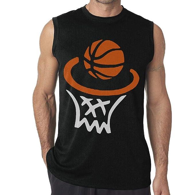 Amazon Com Jksi Pkjg Happy Basketball Men S Sleeveless T Shirts