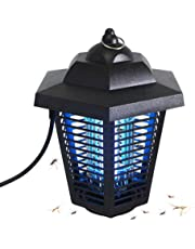 soAR9opeoF Outdoor Mosquito Killer with Trap Lamp,USB Electric Waterproof Safe Photocatalytic Mosquito Killer Lamp LED UV Insect Trap Night Light Safe & efficient Black