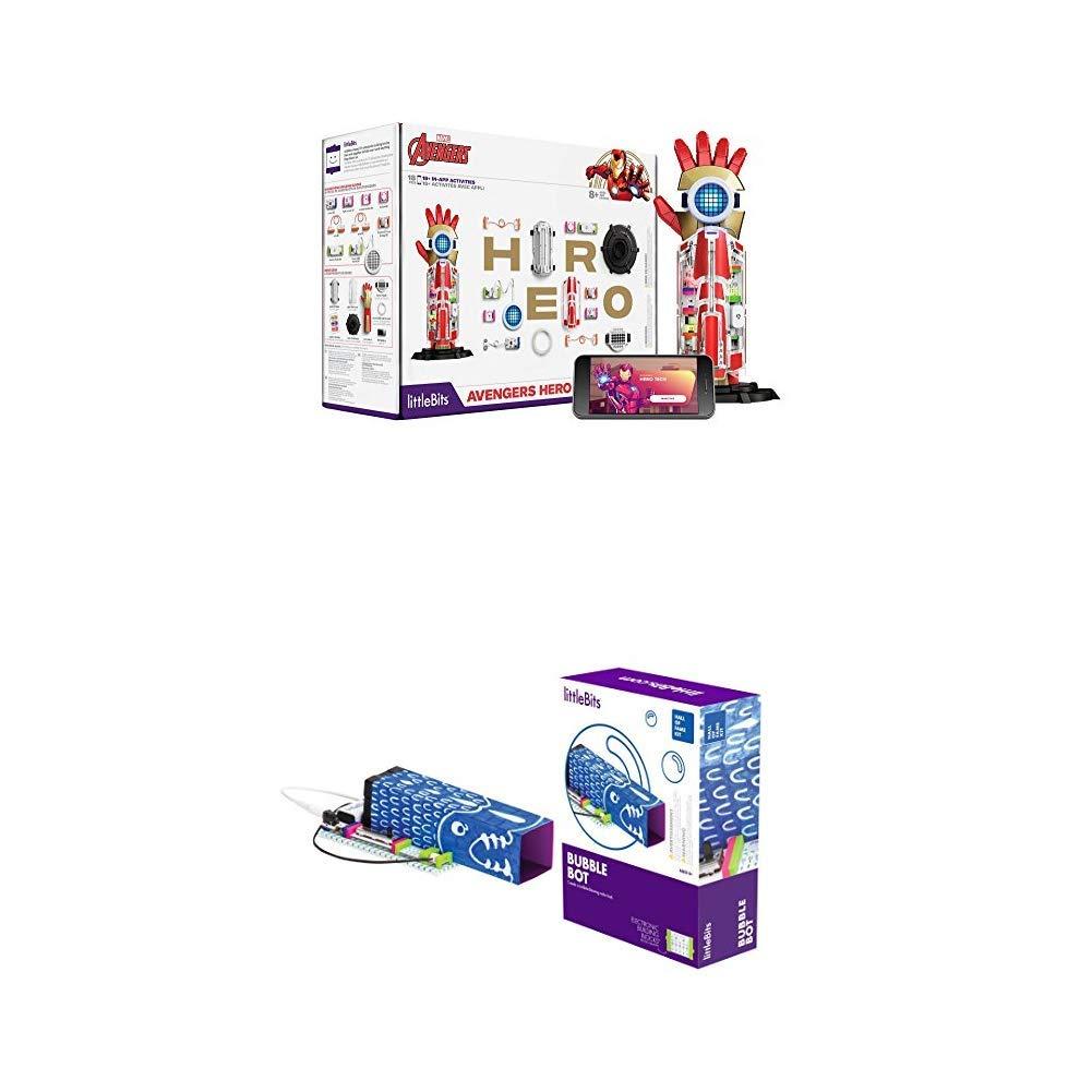 littleBits Marvel Avengers Hero Inventor Kit & littleBits Hall of Fame Bubble Bot Starter Kit