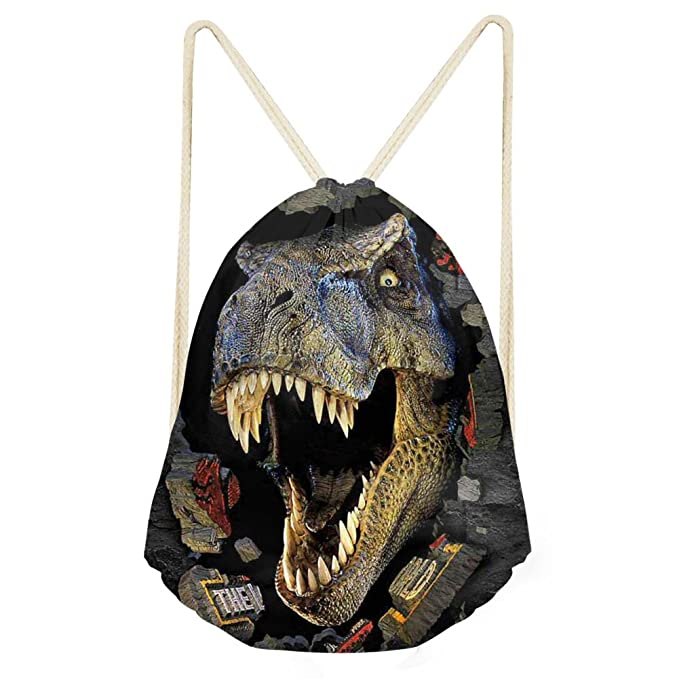 6606675b9546 doginthehole Dinosaur Lightweight 3D Drawstring Bag Gym Travel ...