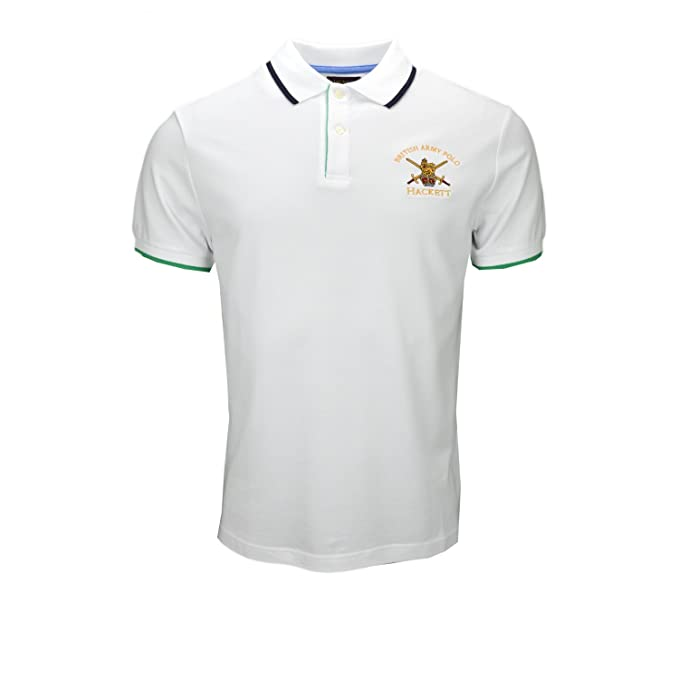 Hackett London Army Pop Tippg-Polo Hombre Blanco XXXL: Amazon.es ...