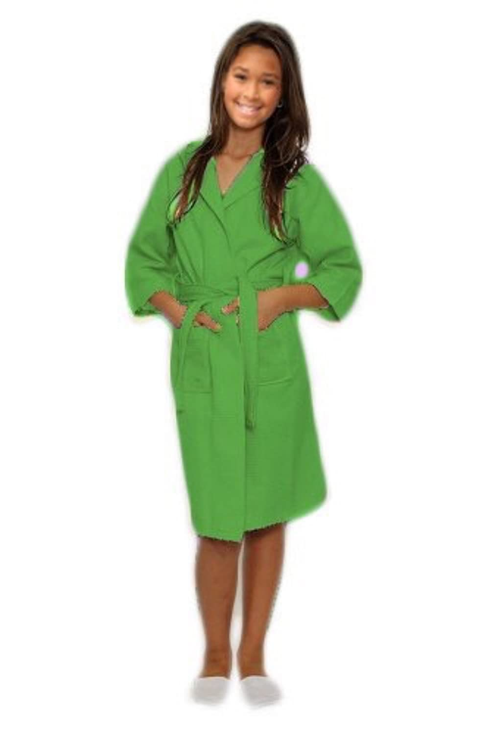 TowelSoft Kids Waffle Hooded Bathrobe - Boys Girls Unisex Robe