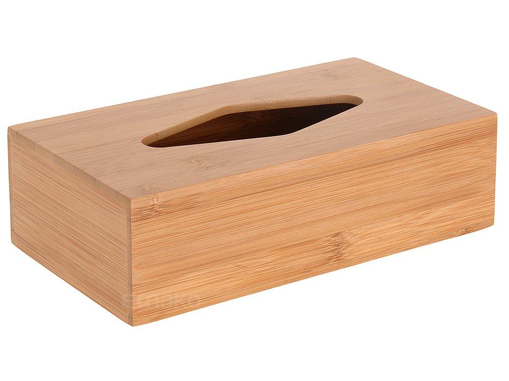 Box, fazzoletto Salviette umidificate, scatola di bambù, Veline Box EMAKO