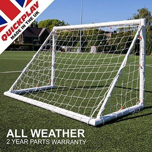 2YR Warranty QuickPlay Q-Fold The 30 Second Folding Soccer Goal for Backyard Single Goal The Best Weatherproof Soccer Net for Kids and Adults