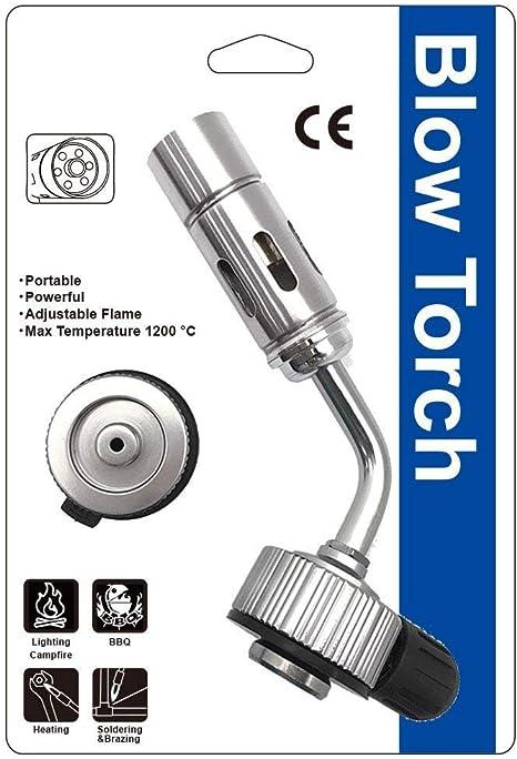 All Splendid - Antorcha de propano butano para soldadura con adaptador de conversión de tornillo tipo ga/válvula Lindal