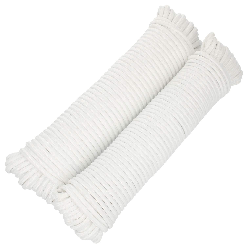tendedero y Cable de mamposter/ía com-four/® 3X 20m Cuerda Multiusos 60 Metros - 3 Colores l/ínea Trenzada para Regalos de Bricolaje cord/ón de sujeci/ón vers/átil