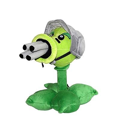 "11"" Collectible Tall Plants Vs Zombies Gatling Pea Plush Toy PVZ Peashooter Doll Plant Super Soft Plush: Toys & Games"