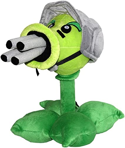 PVZ Gatling Pea Cute Soft Peashooter Plant Plush Toy 12 Tall
