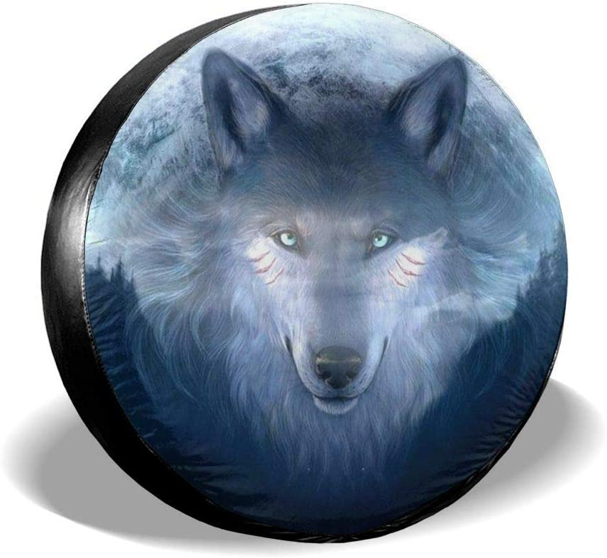 CYEfuzhuang Spare Gazing Wolf Wheel Protectors Tire Cover Classic Car Accessories UV Resistant