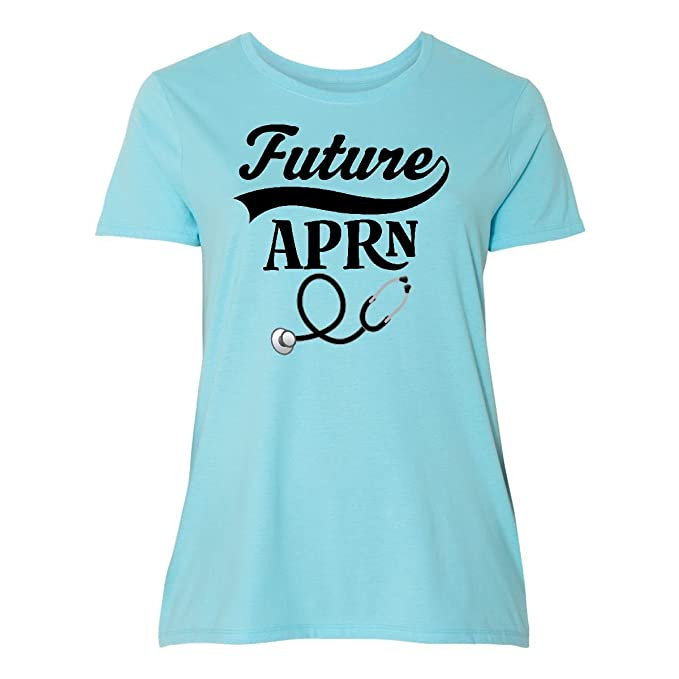 7ad0ac543d5 Amazon.com  inktastic - Future APRN Nursing Women s Plus Size T-Shirt  2f395  Clothing