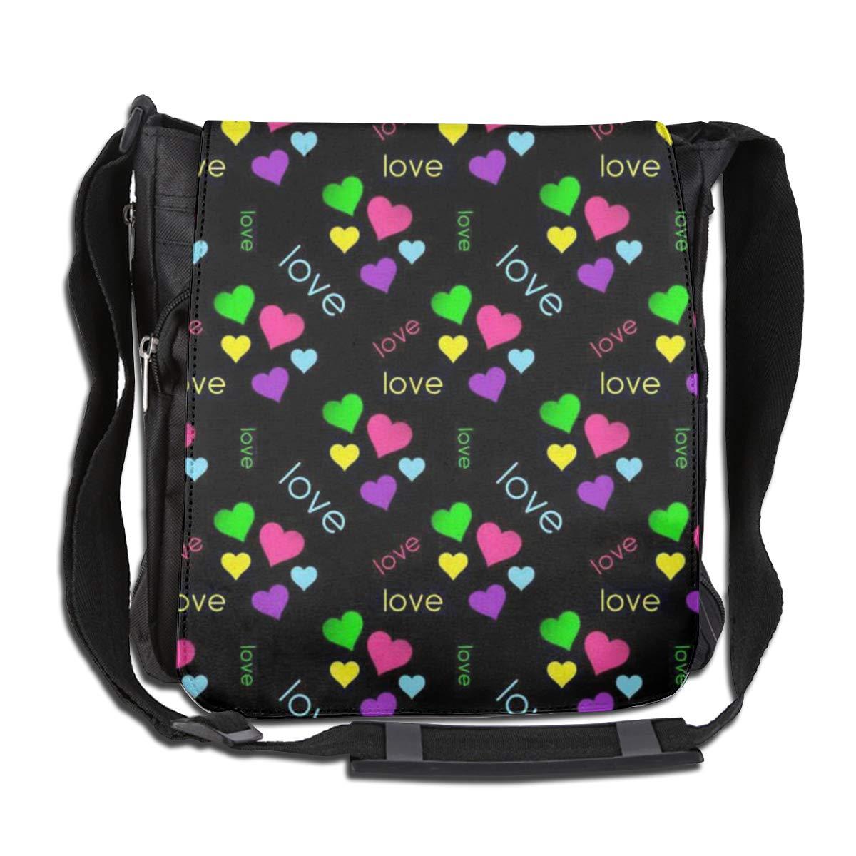 Love Pattern Fashion Diagonal Single Shoulder Workout Bag