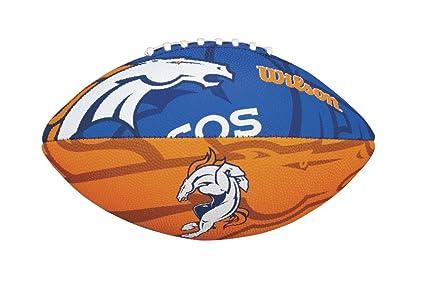 Wilson NFL Junior - Balón infantil de fútbol americano, diseño de logotipo del equipo,