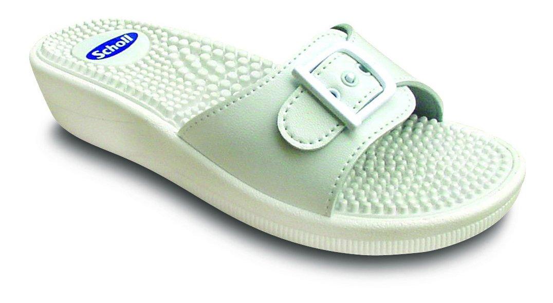 Sandales massantes Scholl - Fitness - Taille 42 - Couleur blanche 3324019