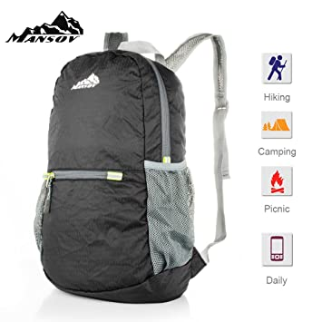 Amazon.com : Mansov 20L Travel Backpack Water Resistant Portable ...