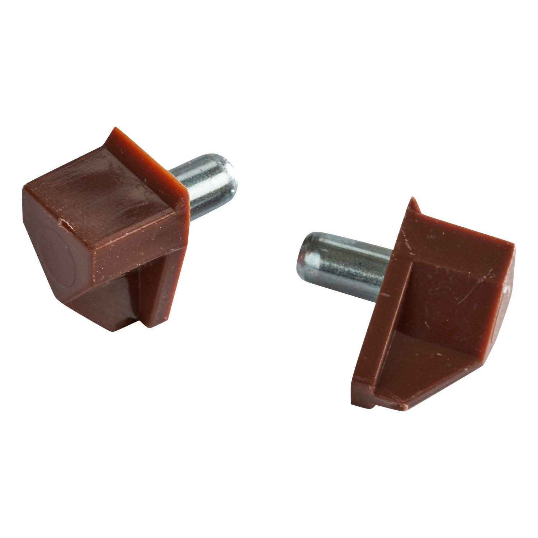 chic 50 pack rok hardware 5mm brown shelf support bracket steel