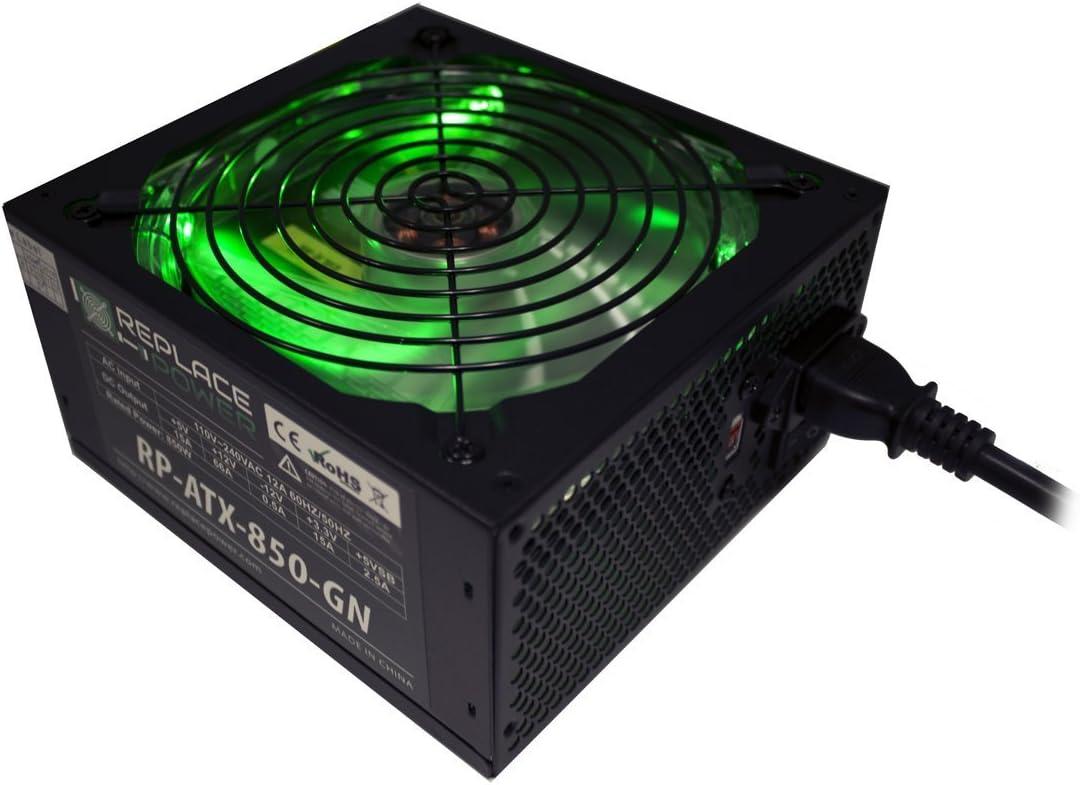 Replace Power 800W ATX Gamer Power Supply Green LED SATA 12V PCI-E