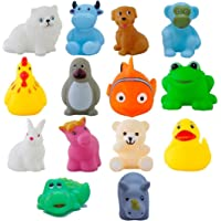 JVM Chu chu Bath Toys Multi-Color - 14 Pc Chu Chu