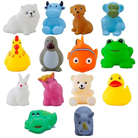 JVM Chu chu Bath Toys Multi-Color - 14 Pc Chu Chu