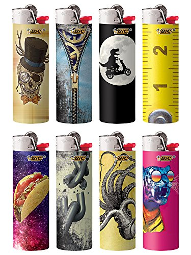 Bic Collectors Choice Series 2015 Lighters Lot of 8 by BIC