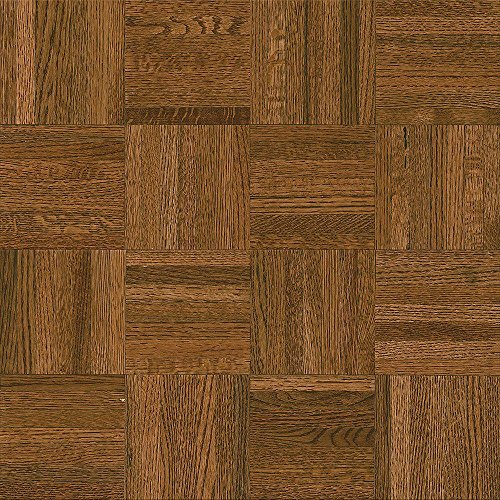 Natural Oak Parquet Gunstock 5/16 in. x 12 in. x 12 in. Wide Length Hardwood Flooring (25 sq. ft./case)