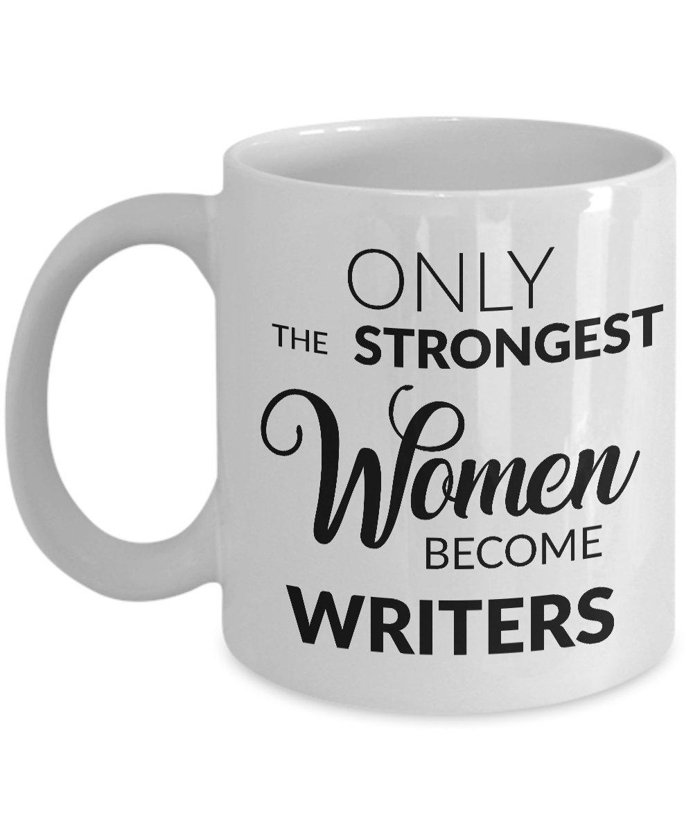 レディースWritersマグ – Writer Gifts – のみの最も強い女性になるライターコーヒーマグ 11oz B072FM8FNZ ホワイト 11oz