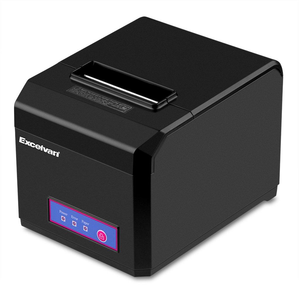 Excelvan Bluetooth 80MM Taglio Automatico Stampante Termica per Ricevute Stampanti a Matrice per Android, Windows, IOS E801