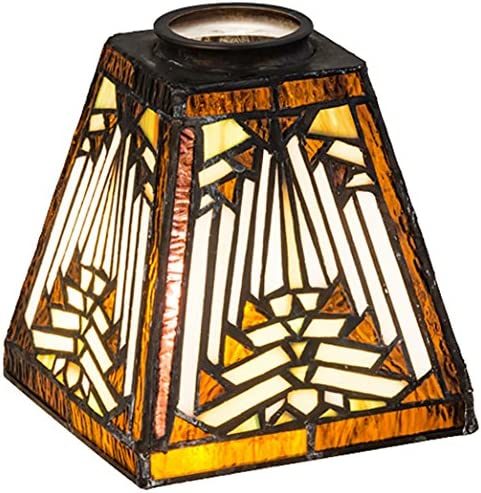 Meyda Tiffany 65910 Nuevo Mission Lamp Shade, 5 sq. in.