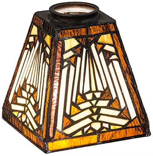 Meyda Tiffany 65910 Nuevo Mission Lamp Shade, 5 sq. in.