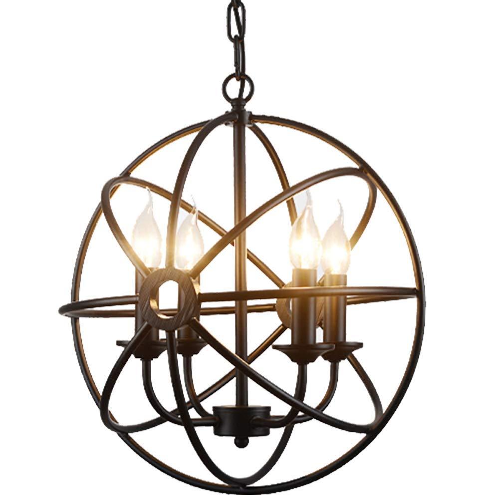 アイアンボールペンダントライト、 レトロなクリエイティブ産業用シャンデリア、 ダイニングルームの据え付け品の台所ランプの寝室のFlurのバルコニーのための天井灯の屋内照明 B07TFLHCYC