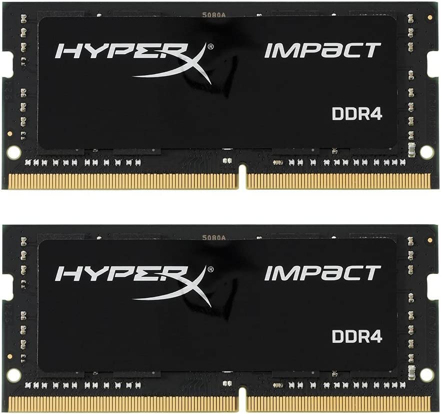 Kingston Technology HyperX Impact 16GB 2666MHz DDR4 CL15 260-Pin SODIMM Laptop Memory, Kit of 2 (HX426S15IB2K2/16)