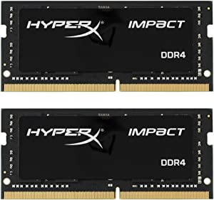 Kingston Technology HyperX Impact 32GB 2666MHz DDR4 CL15 260-Pin SODIMM Laptop Memory, Kit of 2 (HX426S15IB2K2/32)