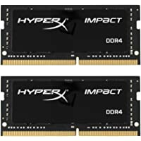 HyperX Impact 16GB DDR4 2666MHz Kit módulo de - Memoria (16 GB, 2 x 8 GB, DDR4, 2666 MHz, 260-pin SO-DIMM, Negro)
