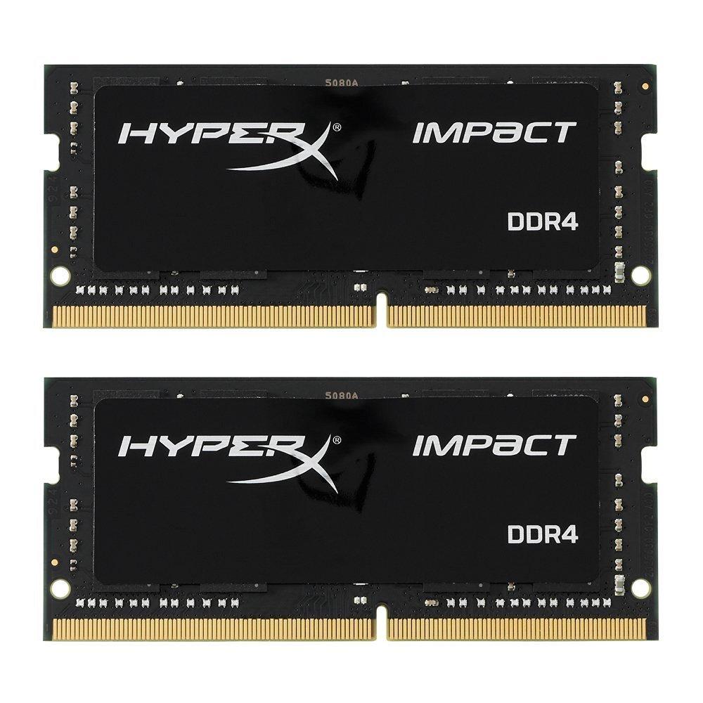 HyperX HX426S15IB2K2/32 Impact Memoria RAM, 2666 MHz, DDR4, CL15 SODIMM, 32 GB, Confezione da 2, Nero