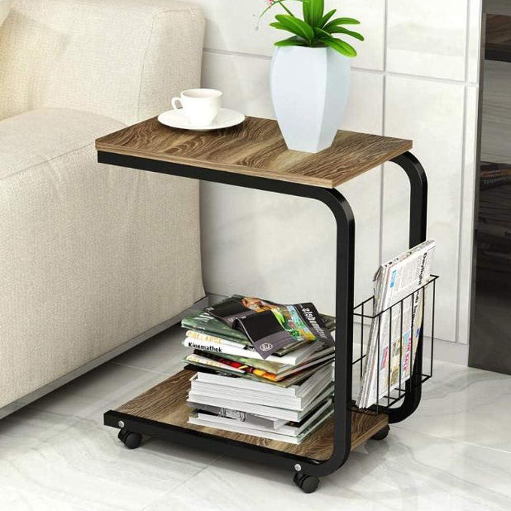 Te Koop MBZL bijzettafel, koffietafel, bijzettafel, bank, woonkamer, jaargang accent C tafel met zijvak voor koffie laptop, eiken C lJ3Q6in