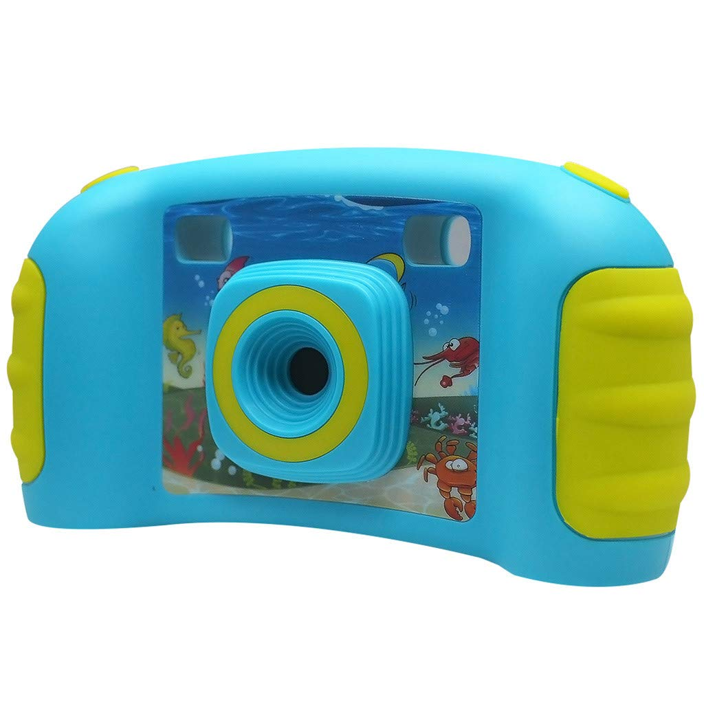 HowLoo Creative Camera for Children's 1.77-inch Game Digital Camera HD Motion Camera (Blue) by HowLoo (Image #2)