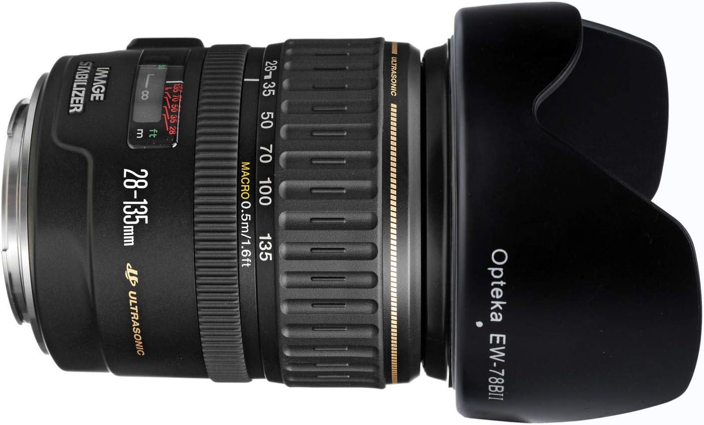 Opteka EW-78BII Lens Hood for Canon EF 28-135mm f//3.5-5.6 is SLR Lens