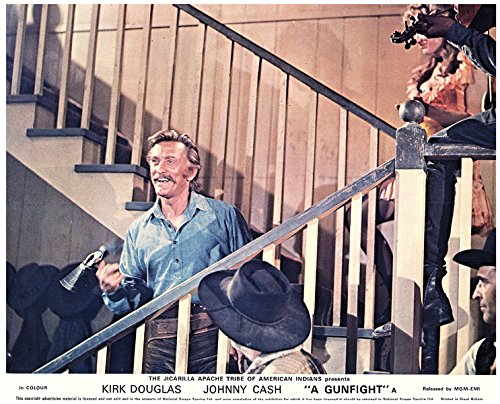 A GUNFIGHT ORIGINAL LOBBY CARD KIRK DOUGLAS TWIRLING GUN
