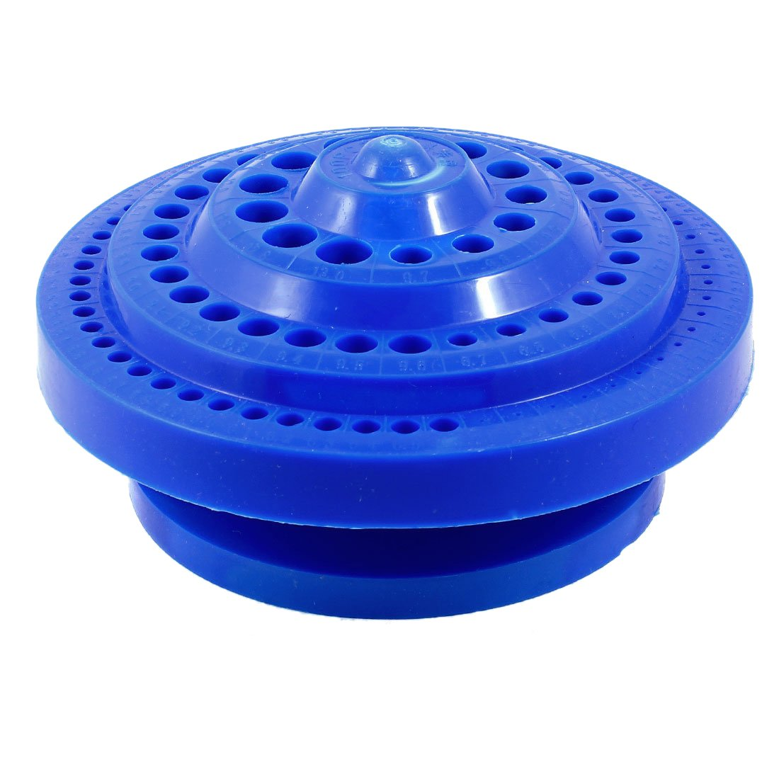 SODIAL(R) Round Shape Plastic Hard Drill Bit Storage Case - Blue