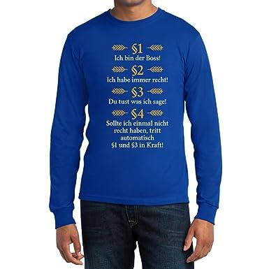 Witzige Geschenke für Juristen / Besserwisser - Ich bin der Boss Langarm T- Shirt Small