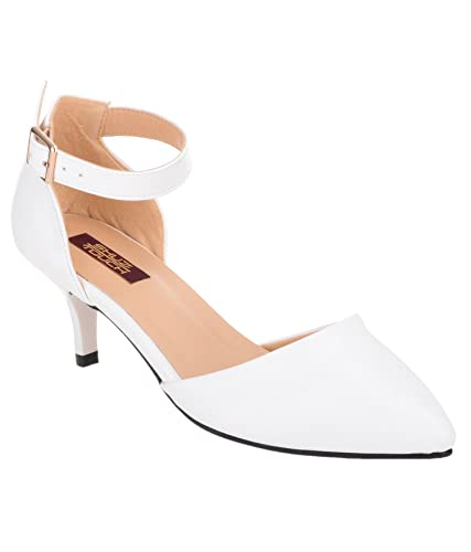 Shuz Touch White Belly Shoes: Buy