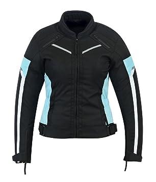 Chaqueta impermeable de alta protección para mujer, color negro/azul, modelo ARMOURWCJ-1834T/azul: Amazon.es: Coche y moto