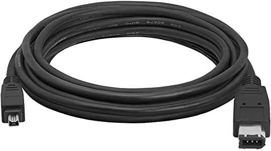 Durpower 10FT Firewire iLink 6-4 Pin DV Video Cable//Cord//Lead For Sony DCR-IP5 IP1 DCR-PC101//e