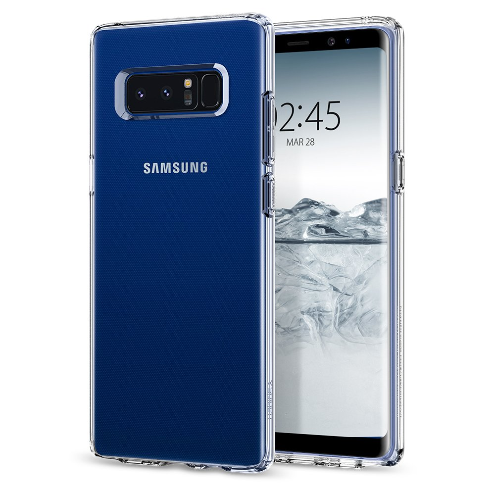 Spigen Liquid Crystal Case Compatible with Samsung Galaxy Note 8 - Crystal Clear